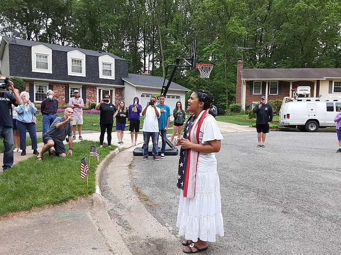 The parade concluded with a rendition of Happy Birthday from a local singer Amonica Hubbard.