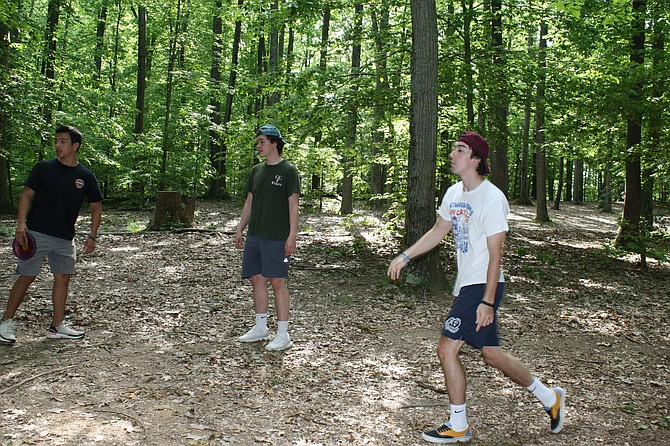 Frisbee Golf at Burke Lake was a hit for the social distancer's.