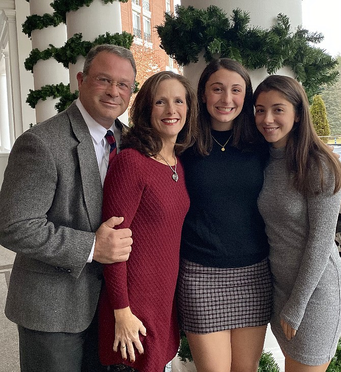 The Colbert family – Mike, Linda, Heather and Hannah.