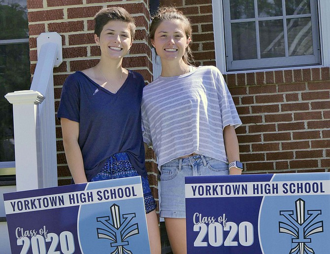 Emily and Sarah Roberts, graduating seniors from Yorktown High School.