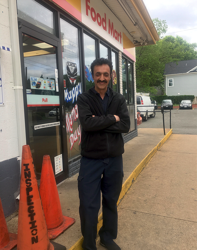 Rizwan, co-owner of the Glebewood Shell station at Lee Highway and Glebe Road.