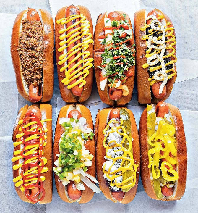 A selection from Haute Dogs & Fries.