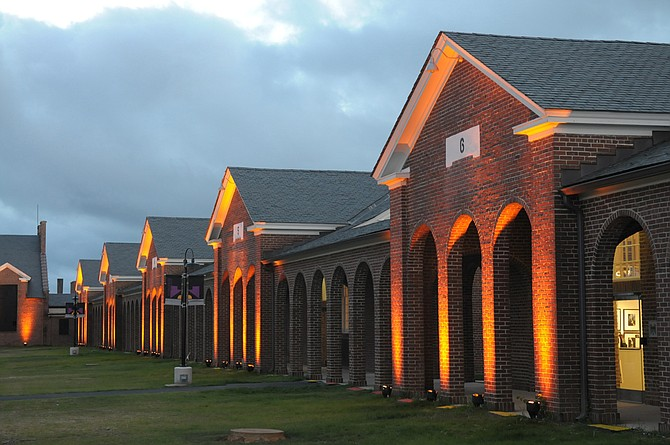 Workhouse Arts Center Lit Arches.