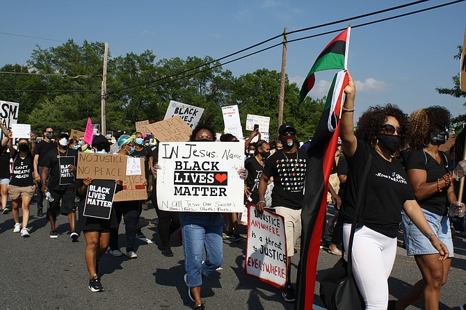 Black Lives Matter is the message in Mount Vernon.