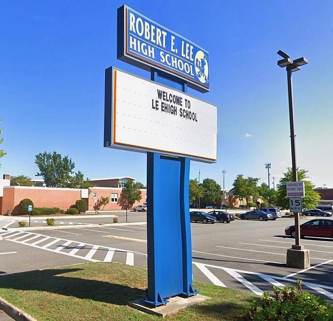 Robert E. Lee High School in Springfield.
