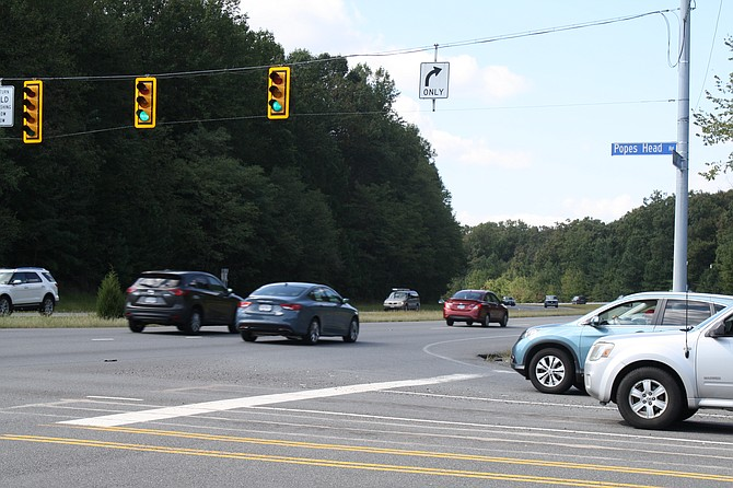 The intersection of the Fairfax County Parkway and Popes Head Road is a focal point of one of the four projects.