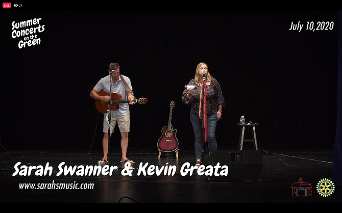 Vienna online entertainment programs kicked off July 11 with a performance by Sarah Swanner & Kevin Greata.