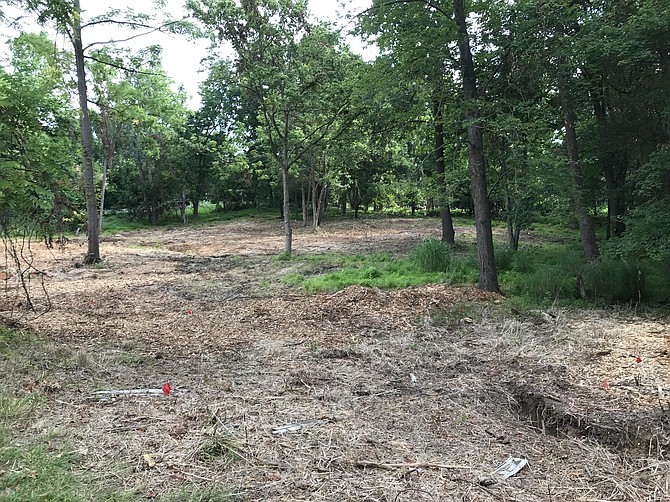 AFTER: A member of West Montgomery County Citizens Association noticed tree clearing on this lot, which required a permit because of the size of the lot and the amount of clearing.