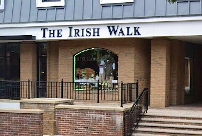 The Irish Walk in Old Town will close its doors July 31.