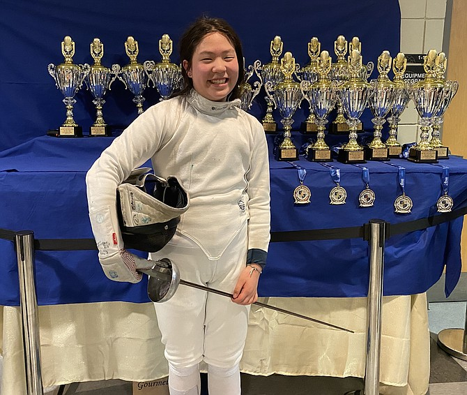 Chelsea Hu is currently working towards qualifying for Junior Olympics Fencing next year.