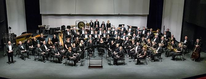 The renowned award-wining City of Fairfax Band at the National Band Festival.