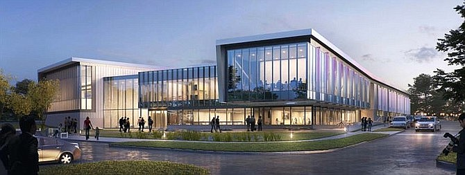 Artist rendering of the proposed building design for The Floris Conservatory of Fine Arts & Music.