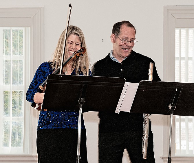 "(From left) musicians Teri Lazar and Osman Kivrak will perform at Virginia Chamber Orchestra's ""Music at Meadowlark Gardens."""