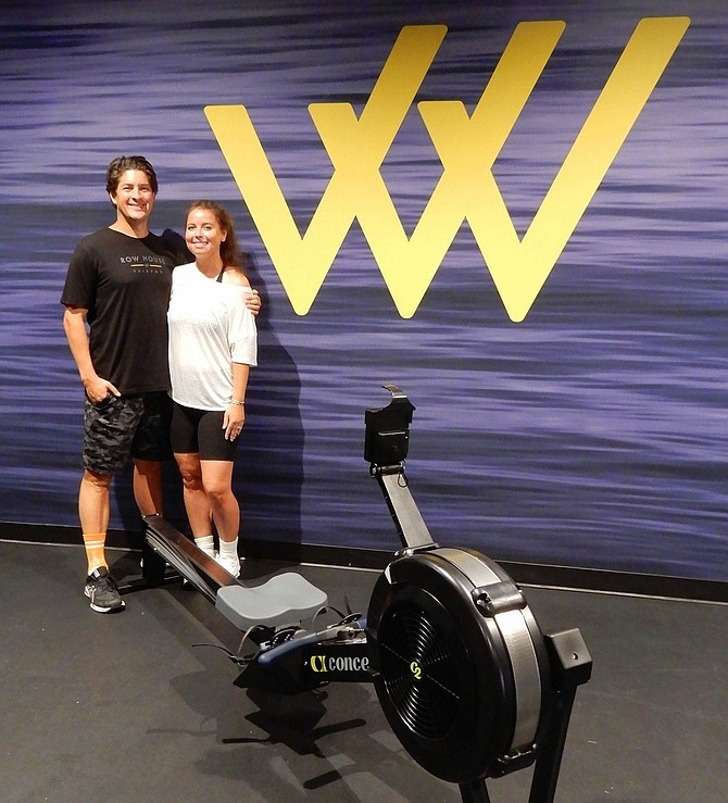 Mike and Nicholette Dunleavy own Row House, a new rowing fitness studio in Fair Lakes.