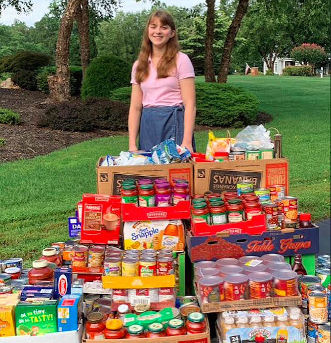 Hadley Husisian has raised over 9,000 pounds of donations for Fairfax food pantry Food for Others in Fairfax.