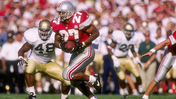 Eddie George, the 1995 Heisman Trophy winner and four-time NFL Pro Bowler, will speak at the Sept. 16 meeting of the Alexandria Sportsman's Club.