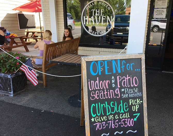 Belle Haven Pizzeria is open for dine-in, patio seating, or carry out. You can order online or call 703-765-5300 to place an order.