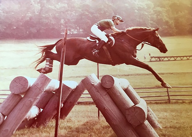 "Riding was always important to Perri Wight Green of McLean, shown here riding ""Crafty Craig"" in 1978."