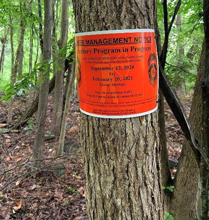 These signs are posted in archery program areas, at park entrances and trailheads.
