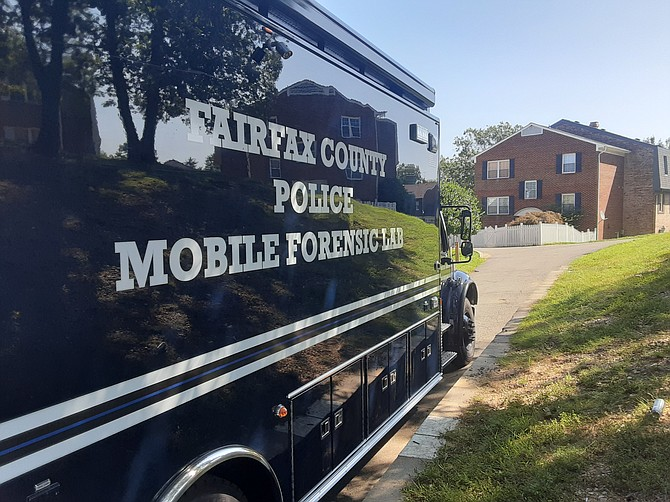 The Fairfax County mobile lab was on the scene following the shooting in Lorton.