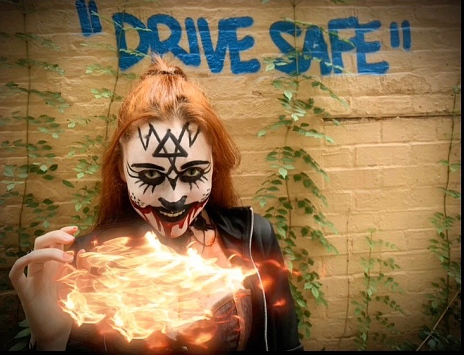 "Morgan Prescott as Workhouse Drive-Thru ""Nightmare Alley"" ghoul."