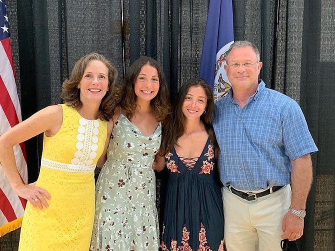 The Colbert family, from left: Linda, Heather, Hannah, Mike. On July 6, 2020, Linda Colbert was sworn in as mayor of the Town of Vienna. The current Town Council is  Mayor Linda J. Colbert and six councilmembers:  Councilmember Chuck Anderson, Councilmember Ray Brill, Councilmember Nisha Patel, MD, Councilmember Steve Potter, Councilmember Ed Somers and Councilmember Howard J. Springsteen.