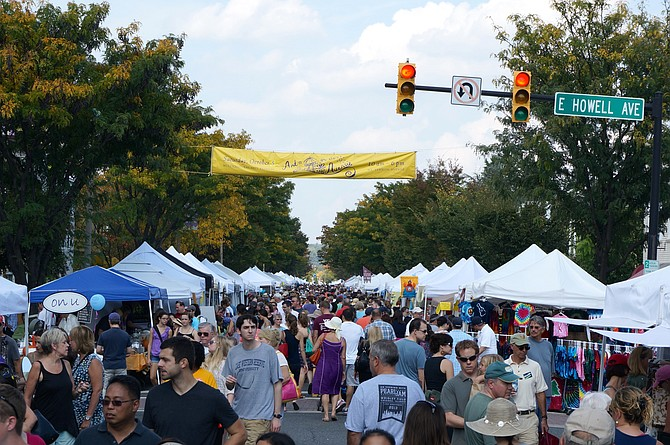Art on the Avenue normally attracts 75,000 to Del Ray. This year's festival will be virtual and run from Oct. 3 through Dec. 25.