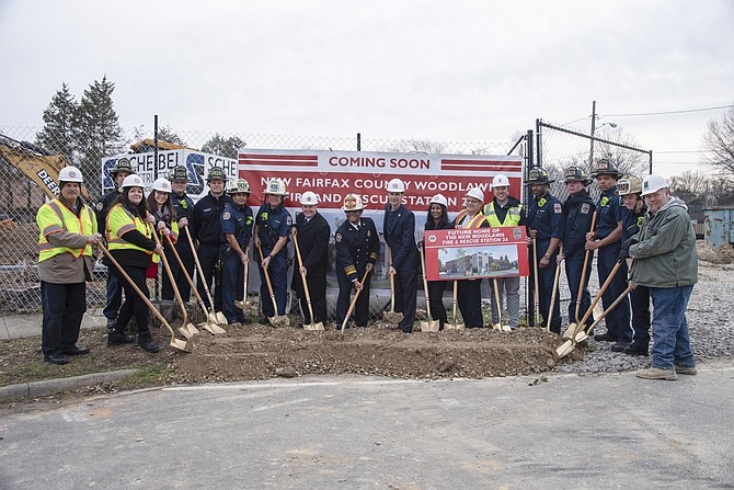 Woodlawn Fire Station groundbreaking. The 15,000 square-foot station is scheduled to open in spring 2022. It will be a two-level freestanding building that will be in operation 24 hours a day, seven days a week, housing up to 16 Fire and Rescue Department staff. The station will be outfitted with four single drive-through bays for emergency vehicles.