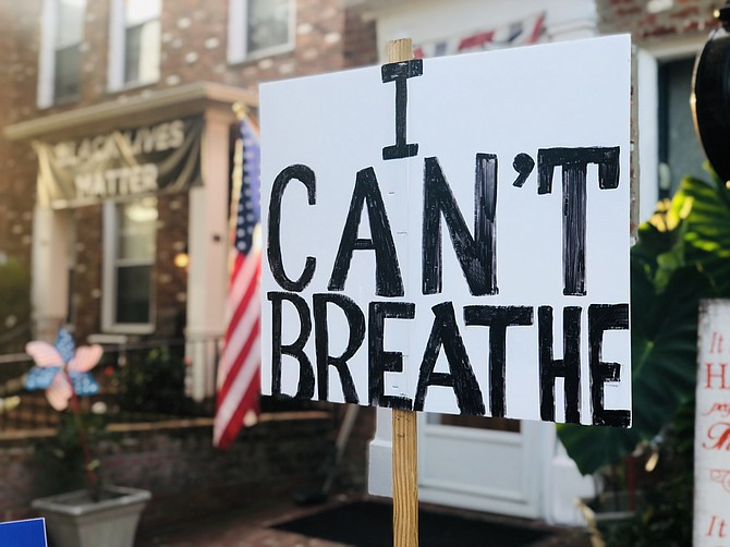 The Black Lives Matter movement began using 'I can't breathe' in 2014 to honor Eric Garner, an unarmed Black man who was killed in a chokehold by police in New York City.