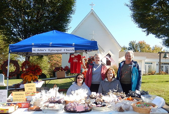 A bake sale on the grounds of St. John's Episcopal Church at a previous Centreville Day.