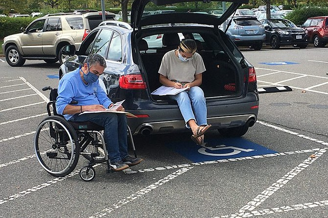 Curbside voting will be available at every early voting location for 65-year-olds or older, or any voter with a physical disability. Election officials strongly recommend that voters curbside vote at the Fairfax County Government Center.