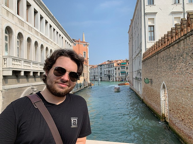 Duncan Lemp on a family vacation in Venice in 2019.