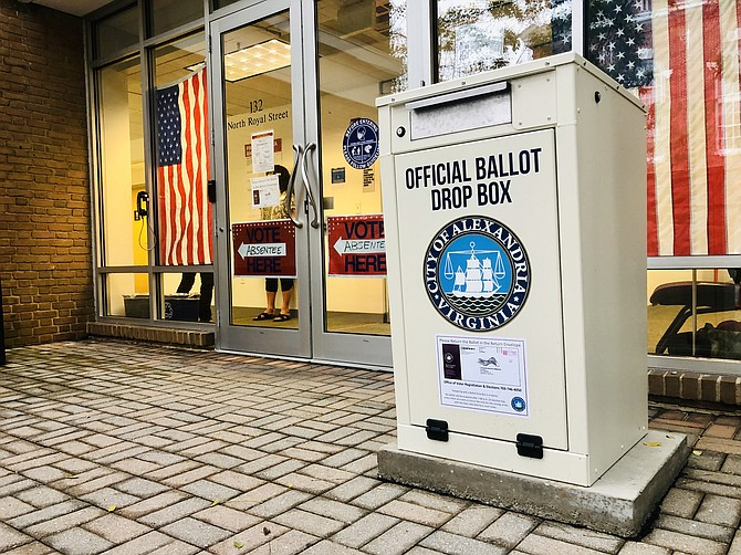 Voters can drop their absentee ballots in a drop box rather than dropping them in the mail.