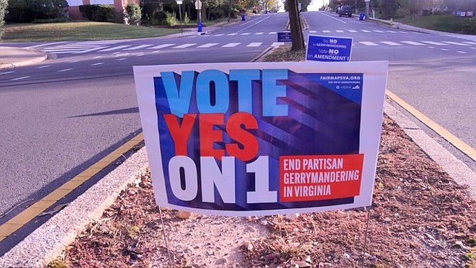 Signs like this, and the other side of the issue, abound on Arlington's medians. But does a Yes vote really end partisan redistricting? Why are Arlingtonians so divided on the issue?