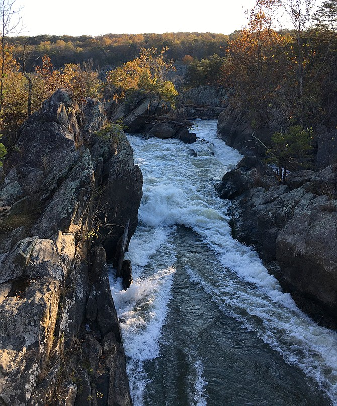 A chute of the Potomac River near Great Falls. The Potomac River is the source of drinking water for more than 6 million people in the metropolitan area.
