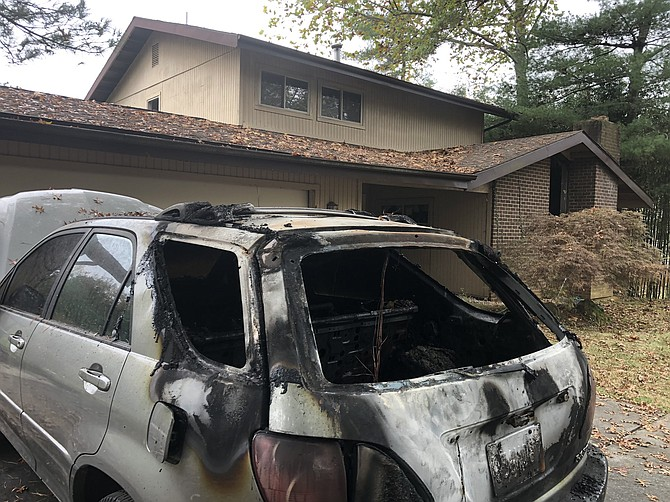 The fire on Korman Drive in Potomac on Oct. 26 was investigated for arson.