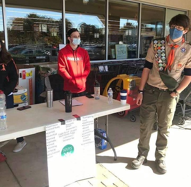 Ethan from Troop 158 in Herndon held a Food Drive for his Eagle Scout service project.