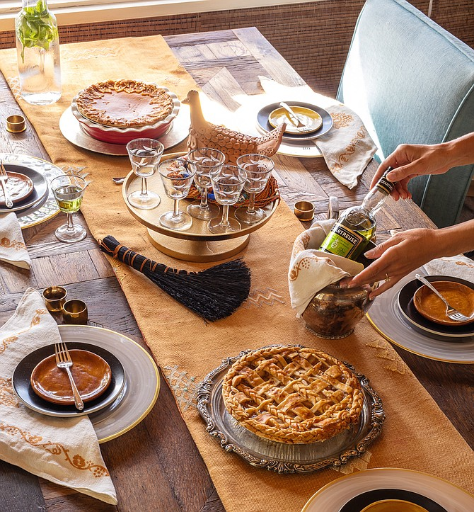 A traditional table setting can add warmth to virtual Thanksgiving celebration.