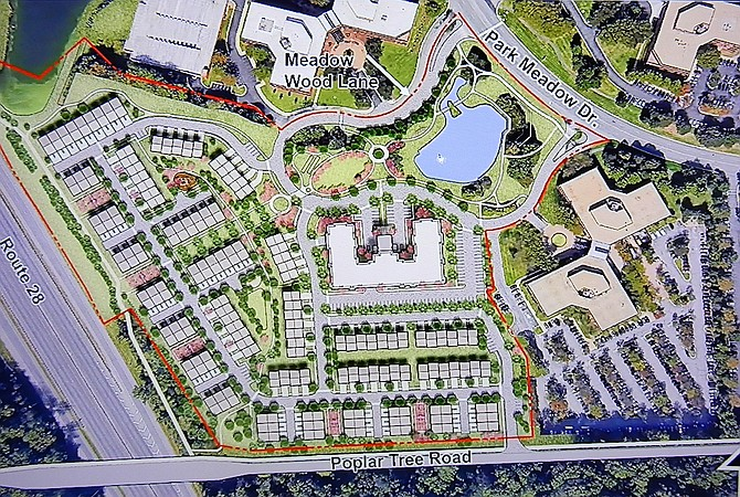 Site plan of the 442 homes to be built by developer K. Hovnanian.