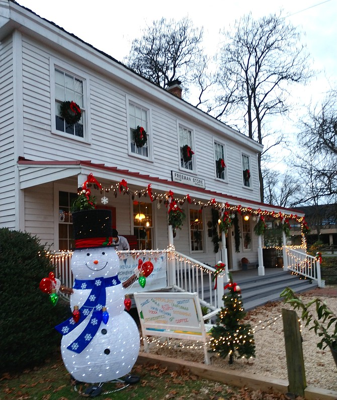 Members of Ayr Hill Garden Club and Historic Vienna, Inc. decorated the Freeman Store and Museum for the holidays.