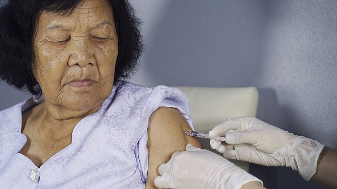 Flu shots are encouraged for seniors, particularly those with underlying medical conditions.