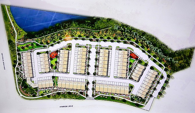 Site plan of the Stonebrook residential development in Chantilly.