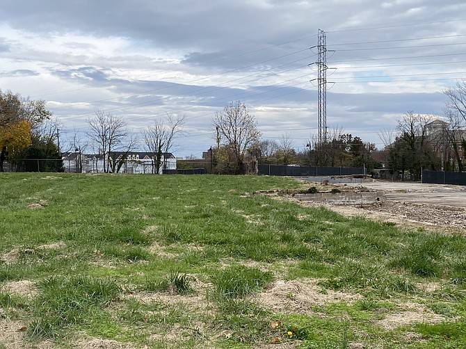 A partial view of the 4.675-acre property currently owned by the Town of Herndon pending its Dec. 2020 sale to Comstock Herndon Venture LC to construct the long-awaited, mixed-use Downtown Redevelopment Project.