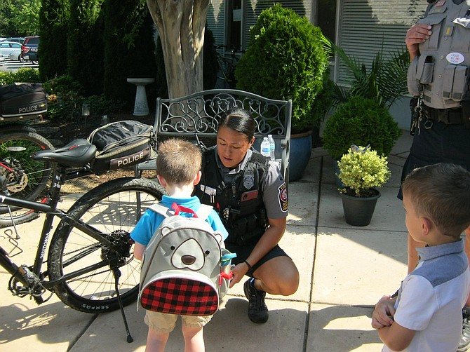 If an officer is on a bicycle, it makes it easier to approach some of the residents, particularly children.