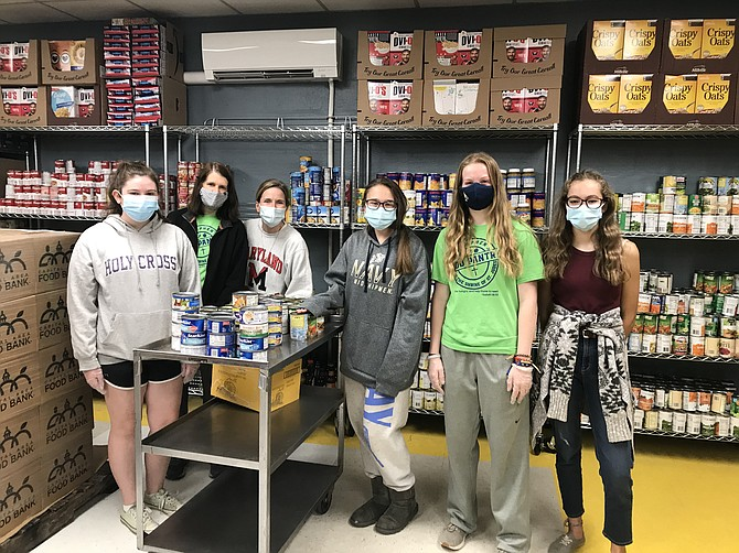 Students and Faculty on All-School Service Day.