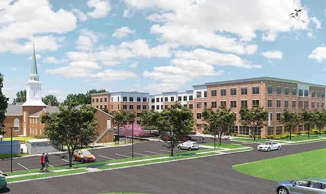 A rendering of The Waypoint of Fairlington.
