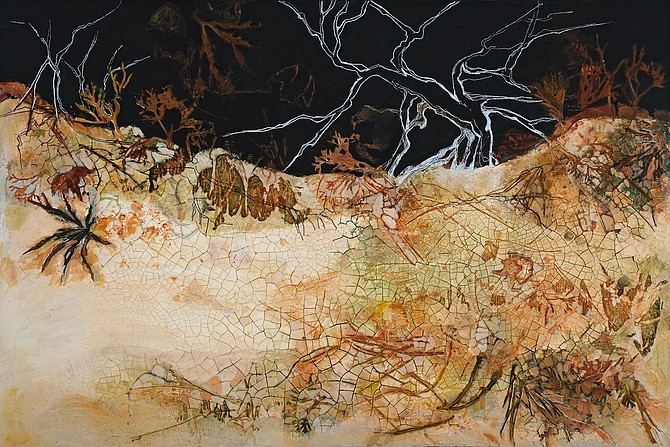 Nimi Trehan's painting, Earth Scorched and Seared.
