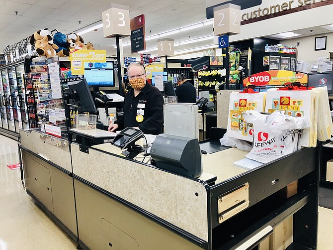 Grocery store employees, like people who work in the Safeway in Old Town Alexandria, qualify as workers at essential retail businesses under the governor's Executive Order 72. Under a bill introduced by Del. Elizabeth Guzman (D-31), they would be guaranteed five paid sick days a year.
