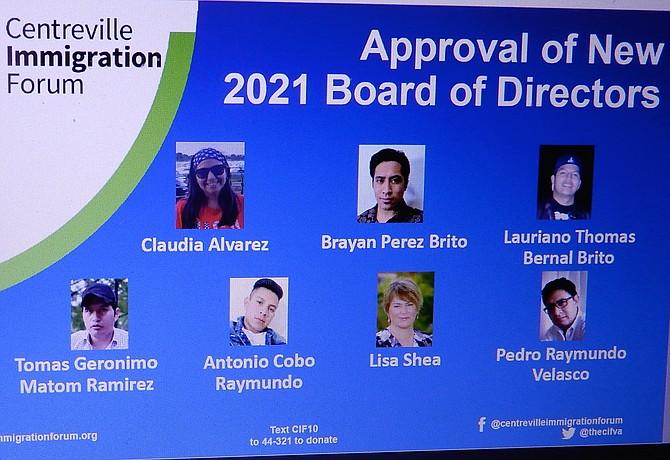 The CIF's 2021 Board of Directors.