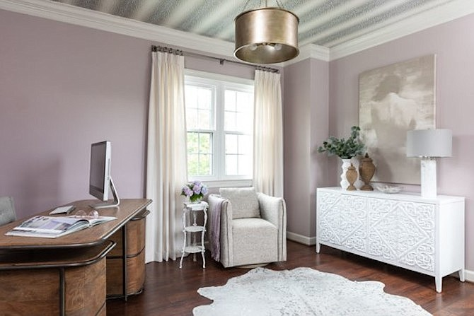 Shades of lavender and white can create a serene and soothing aesthetic.